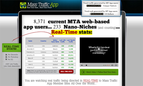 mass traffic app scr Mass Traffic App by Danny Kay